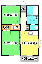 東京都練馬区大泉町3丁目の賃貸アパートの間取り