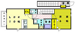 Jou Hope Ⅳ[2階]の間取り