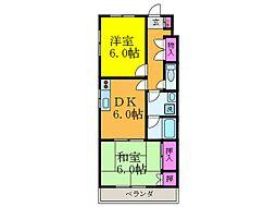 大阪府摂津市別府1丁目の賃貸アパートの間取り
