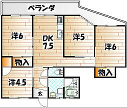 枝光アパート[2階]の間取り