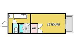 兵庫県姫路市八代の賃貸アパートの間取り