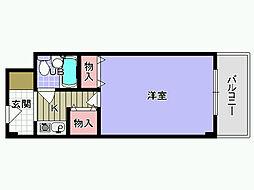 大阪府岸和田市下松町2丁目の賃貸マンションの間取り