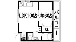 兵庫県伊丹市鴻池6丁目の賃貸マンションの間取り