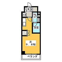 パークアクシス大塚ステーションゲートタワー 17階ワンルームの間取り