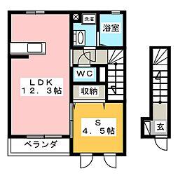 モダンコート・ウエルネス[2階]の間取り