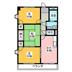 グローリアスII[3階]の間取り