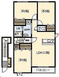 ベル・デーアI[2階]の間取り