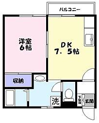 スカイハイツ3[2B号室]の間取り