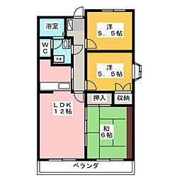 サニープレイス[3階]の間取り