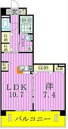 埼玉県三郷市谷口の賃貸マンションの間取り