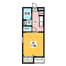 シャンテAT[2階]の間取り