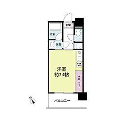 アーデンタワー神戸元町[0207号室]の間取り