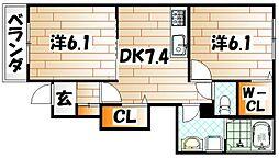 ハローガーデンハウス[1階]の間取り