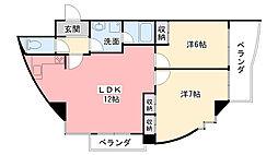 ドール甲子園[203号室]の間取り