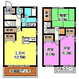 [テラスハウス] 東京都西東京市谷戸町1丁目 の賃貸【/】の間取り