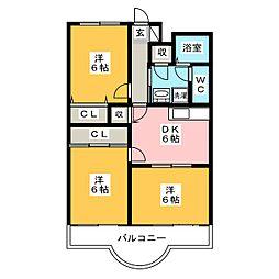 エミューデコンフォート[3階]の間取り