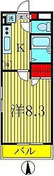 セナリオコート柏VI[304号室]の間取り