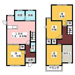[テラスハウス] 愛知県名古屋市名東区社が丘3丁目 の賃貸【/】の間取り