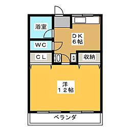 コーポ音羽[4階]の間取り