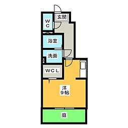 村雲アパートメント[1階]の間取り