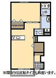 (新築)エムグレイスR[1階]の間取り