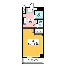 メゾン ド サフィ−ル[4階]の間取り