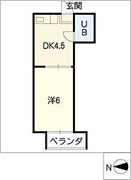 レジデンス小碓[4階]の間取り