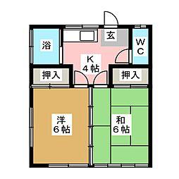 やまき荘[1階]の間取り