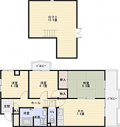 マンションパール[4階]の間取り