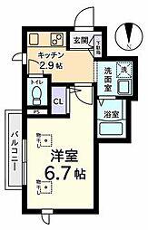 メゾンフォセット[3階]の間取り