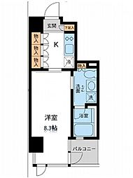レジデンス白金パークフロント[2階]の間取り