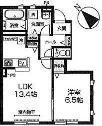 コルディアーレB[1階]の間取り