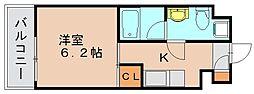 ラファセベルシード博多[9階]の間取り