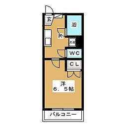 サンケイハイツ[2階]の間取り