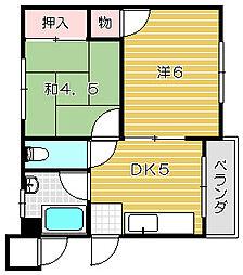 暁マンション[201号室]の間取り