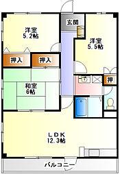 ディアコート21[2階]の間取り
