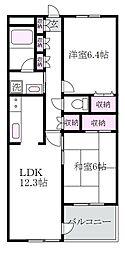 東京都練馬区関町北5丁目の賃貸マンションの間取り
