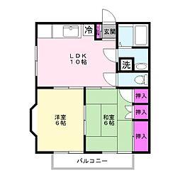 メゾン平田[102号室]の間取り