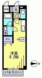 ビバス萩中[1階]の間取り