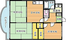 高須ロイヤルビル[3階]の間取り