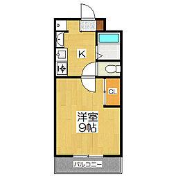 ルネッサンス・アン[4階]の間取り