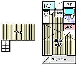 ロフトクラブ[2階]の間取り