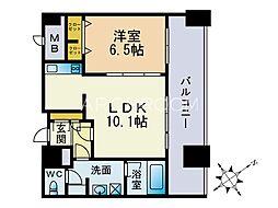 KDXレジデンス大濠ハーバービュータワー[24階]の間取り