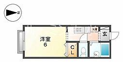西舞子グリーンハウス[2階]の間取り