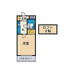 サンニール天沼[1階]の間取り