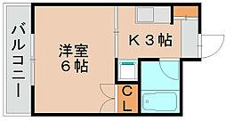 マリンハイツ波多江[3階]の間取り