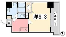 ONE LIGHT博労町(ワンライトバクロウマチ)[3階]の間取り