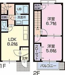 ファミール松花B[5号室]の間取り