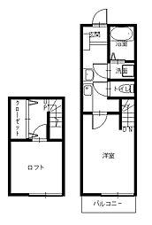 創和ハウジング西坂新築アパートII[1階]の間取り