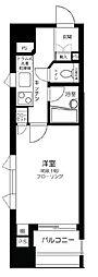 都営浅草線 東銀座駅 徒歩9分の賃貸マンション 6階1Kの間取り